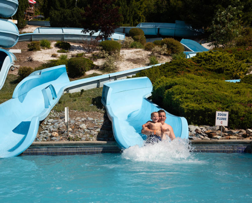 Zoom Flume waterslide at splashdown vernon