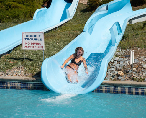 Double Trouble waterslides at splashdown vernon