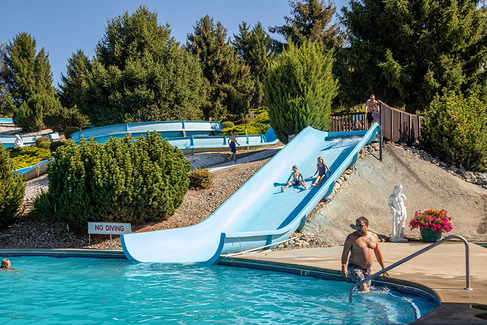 Ramp waterslide at splashdown vernon