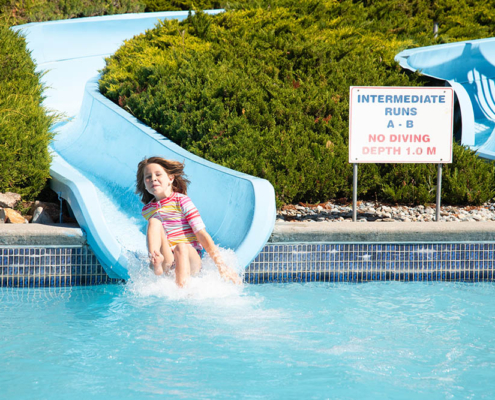 Intermediate waterslides at splashdown vernon
